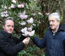 peter & kenneth cox with rhododendron
