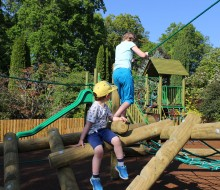 The fantastic playpark has everything children enjoy - climbing, swinging and more.