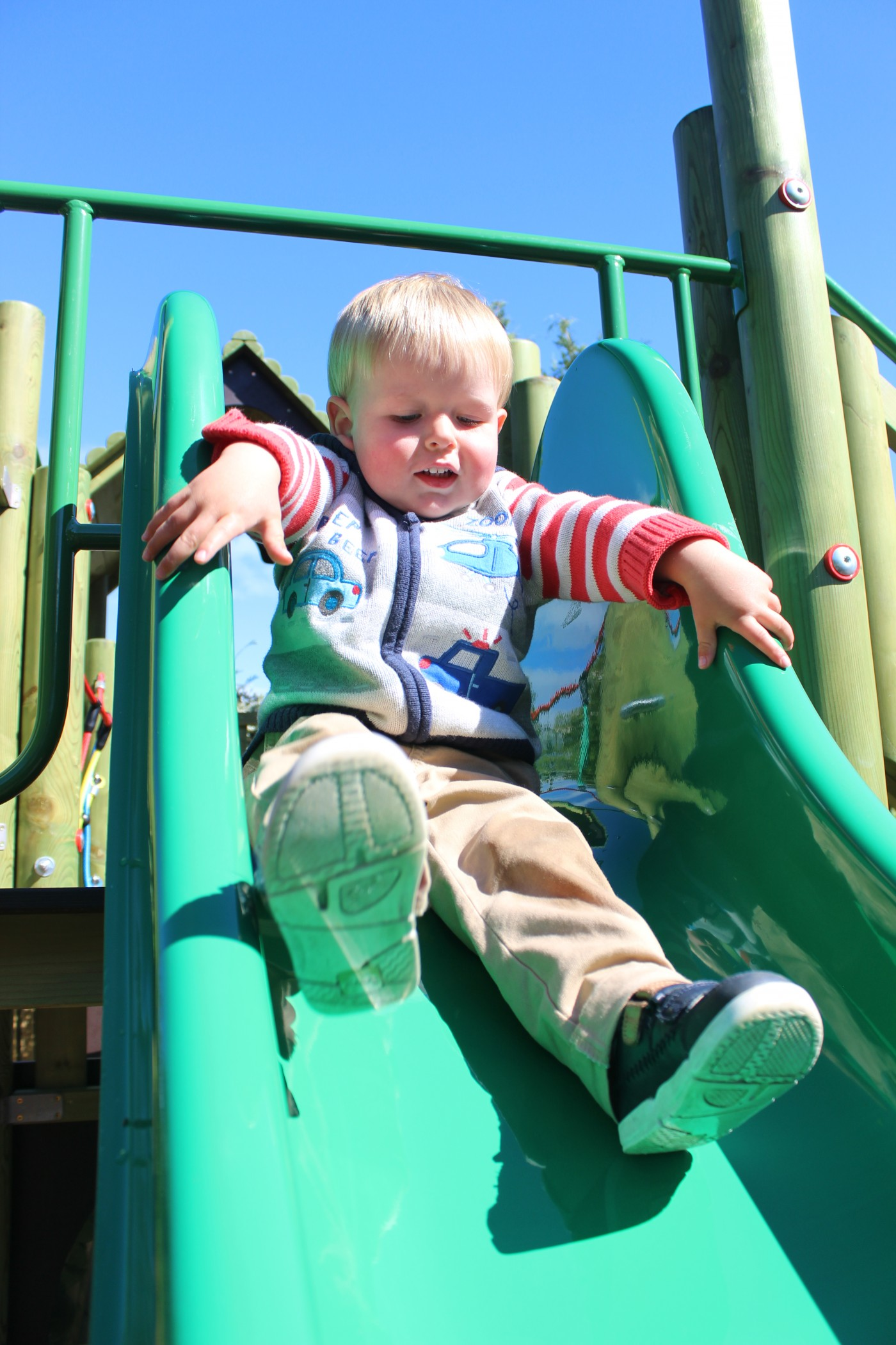 Playpark Slide Boy