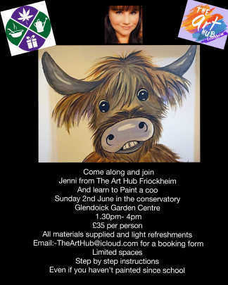 Come along to Glendoick and join Jenni from The Art Hub in this entertaining art session.
